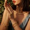 Rose Gold Vermeil Doina Fine Chain Bracelet  - Monica Vinader