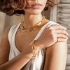 Gold Vermeil Alta Capture Large Link Charm Bracelet - Monica Vinader
