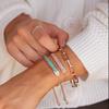 Rose Gold Vermeil Baja Facet Bracelet - Rose Quartz - Monica Vinader
