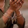 Rose Gold Vermeil Linear Bead Friendship Bracelet - Rose Gold Metallica - Monica Vinader