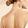 Rose Gold Vermeil Siren Mini Nugget Necklace - Rose Quartz - Monica Vinader