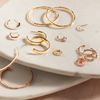 Rose Gold Vermeil Siren Muse Small Hoop Earrings - Monica Vinader