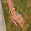 Gold Vermeil Signature Thin Bangle - Monica Vinader