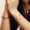 Gold Vermeil Fiji Bud Cuff - Large - Monica Vinader