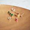 Gold Vermeil Siren Climber Earrings - Green Onyx - Monica Vinader