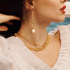 Gold Vermeil Nura Baroque Pearl Pendant Charm - Pearl - Monica Vinader