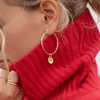 Gold Vermeil Siren Small Coin Pendant Charm - Monica Vinader
