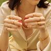 Gold Vermeil Siren Hammered Ring - Monica Vinader
