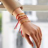 Rose Gold Vermeil Linear Friendship Bracelet - Coral - Monica Vinader