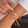 Rose Gold Vermeil Linear Friendship Bracelet - Mink - Monica Vinader