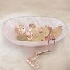 Rose Gold Vermeil Siren Mini Bezel Pendant Charm - Rose Quartz - Monica Vinader