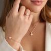 Rose Gold Vermeil Siren Stacking Ring - Rose Quartz - Monica Vinader