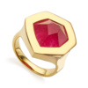Gold Vermeil Petra Cocktail Ring - Pink Quartz - Monica Vinader