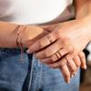 Rose Gold Vermeil Skinny Gemstone Eternity Ring - Mix - Monica Vinader