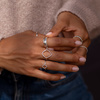 Sterling Silver Skinny Eternity Ring - Diamond - Monica Vinader