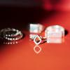 Sterling Silver Riva Mini Kite Stacking Ring - Diamond - Monica Vinader