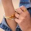 Gold Vermeil Nura Reef Stacking Ring - Monica Vinader