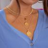 Gold Vermeil Ziggy Mini Petal Pendant Charm - Monica Vinader