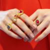 Gold Vermeil Petra Ring - Pink Quartz - Monica Vinader
