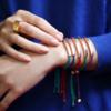 Gold Vermeil Linear Friendship Bracelet - Red Metallica - Monica Vinader