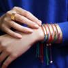 Rose Gold Vermeil Linear Friendship Bracelet - Purple Metallica - Monica Vinader