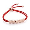 Rose Gold Vermeil Linear Bead Friendship Bracelet - Coral - Monica Vinader