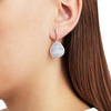 Siren Large Nugget Earrings - Blue Lace Agate - Monica Vinader