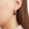 Gold Vermeil Siren Wire Earrings - Black Line Onyx - Monica Vinader