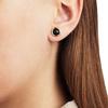 Rose Gold Vermeil Siren Stud Earrings - Black Onyx - Monica Vinader