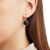 Rose Gold Vermeil Siren Wire Earrings - Black Onyx - Monica Vinader