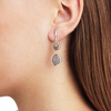 Sterling Silver Siren Double Nugget Drop Earrings - Grey Agate - Monica Vinader
