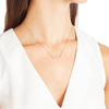 Rose Gold Vermeil Riva Small Pod Necklace - Diamond - Monica Vinader