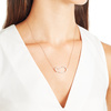 Rose Gold Vermeil Riva Pod Necklace - Diamond - Monica Vinader