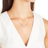 Gold Vermeil Riva Pod Necklace - Diamond - Monica Vinader