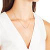 Gold Vermeil Riva Small Pod Necklace - Diamond - Monica Vinader