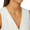 Rose Gold Vermeil Nura Pebble Pendant Charm - Turquoise - Monica Vinader