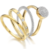 Gold Vermeil Fiji Button Ring - Diamond - Monica Vinader