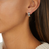 Sterling Silver Signature Wide Earrings - Monica Vinader