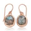 Rose Gold Vermeil Siren Wire Earrings - Labradorite - Monica Vinader