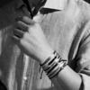Havana Men's Friendship Bracelet - Denim Blue - Monica Vinader