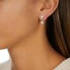 Sterling Silver Fiji Mini Button Jacket Earrings - Diamond - Monica Vinader