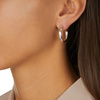 Sterling Silver Fiji Large Hoop Earrings - Monica Vinader