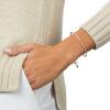 Fiji Skinny Bar Friendship Chain Bracelet - Petite - Diamond - Monica Vinader