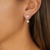 Gold Vermeil Fiji Mini Button Jacket Earrings - Diamond - Monica Vinader