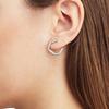 Rose Gold Vermeil Riva Diamond Circle Wrap Earrings - Diamond - Monica Vinader
