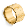 Gold Vermeil Siren Scatter Wide Band Ring - White Topaz