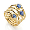 Gold Vermeil Siren Cluster Cocktail Ring - Kyanite - Monica Vinader