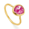Gold Vermeil Siren Stacking Ring - Pink Quartz - Monica Vinader