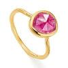 Gold Vermeil Siren Stacking Ring - Pink Quartz - Monica Vinader