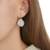Gold Vermeil Siren Large Nugget Earrings - Moonstone - Monica Vinader